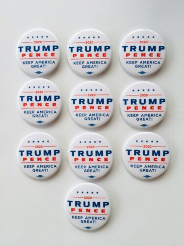 Bottle Opener//Key Chain. Donald Trump 2020 Set Of 10 Presidential Buttons