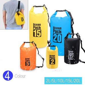 769d5b8354 Waterproof Dry Bag 2L 5L 10L 15L 20L Storage Pack Winter Outdoor ...