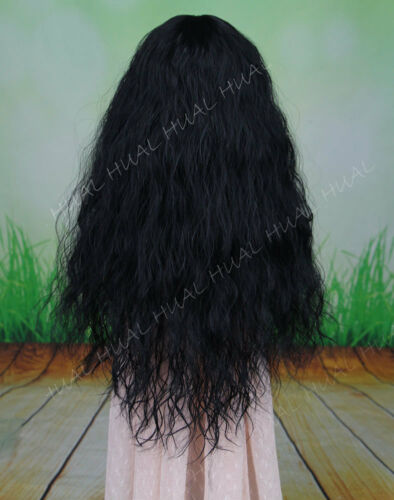 "BJD Doll Hair Black Long Curly Wave Wavy Wig 7-8/"" 1//4 SD DZ DOD LUTS HUAL-3#"