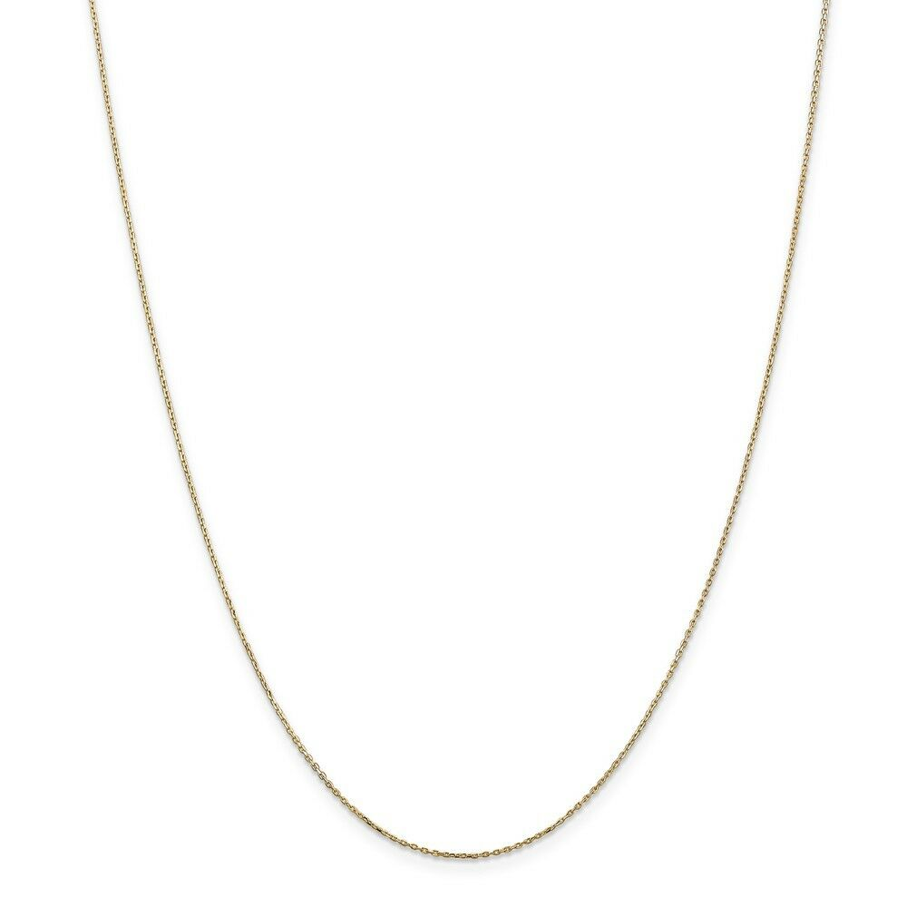 14kt Yellow gold .8mm D C Cable Chain; 24 inch