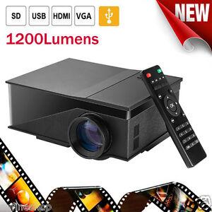 Home-Cinema-Theater-Mini-1200-Lumens-LED-LCD-Projector-1080P-HDMI-USB-AV-VGA-Lot