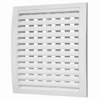 White Satin Air Vent Grille with Adjustable Shutter Ducting Ventilation Cover