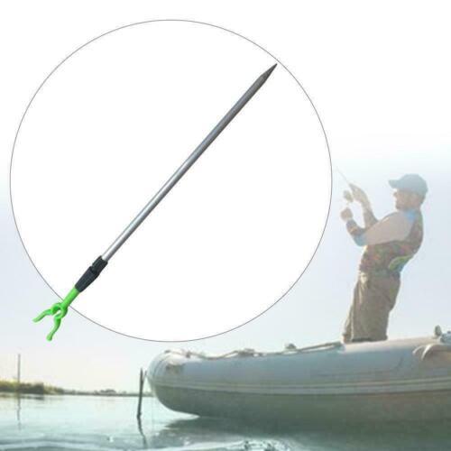 Adjustable Metal Fishing Rod Pole Holder Rack Stand Tool Bracket Sections C5X2