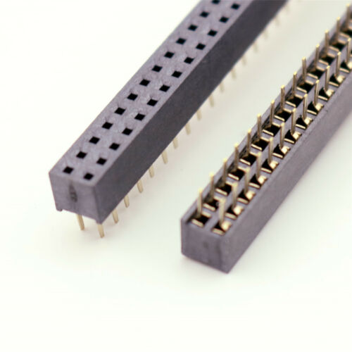 10x Pitch 2.0mm 2mm 2x40 Pin 80 Pin Female Double Row Straight Pin Header Strip