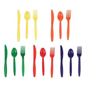15pcs-Set-Portable-Plastic-Tableware-Cute-Scoop-Fork-Knife-Party-Camping-Cutlery