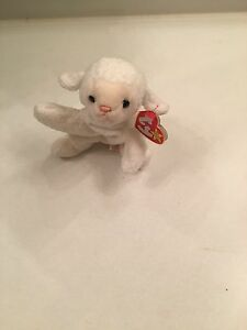 1996 PVC March 21st TY Beanie Baby Fleece The Lamb W//Style # Tag Retired   DOB