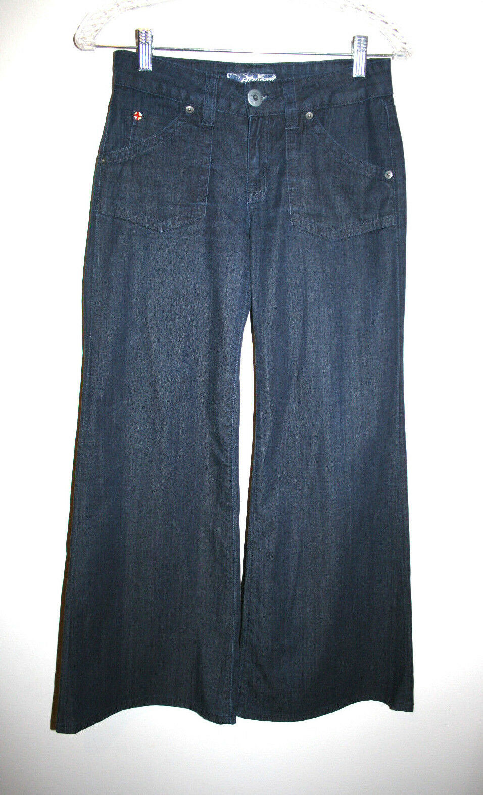 Nouveau Débard HUDSON Blau Foncé Jeans Jambe Large Pantalon Flare Jeans 26 Neuf avec étiquettes 198