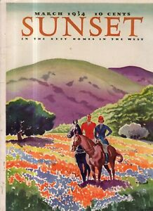 1934 Sunset March - La Canada Pasadena CA home; do you know your Wildflowers?