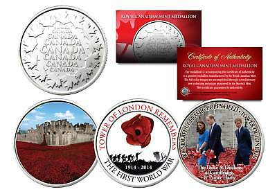 Set of 2 Royal Canadian Mint Medallion Coins 2014 CHRISTMAS PRINCE GEORGE