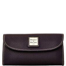Dooney & Bourke ~Continental Pebble Grain Leather Wallet~ZR507 BB Black~NWT $128