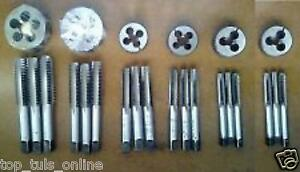 """All LEFT TAP AND DIE SET 3//16 TO 1//2/"""" BSW 6 SIZES BRITISH STANDARD WITHWORTH SET"""
