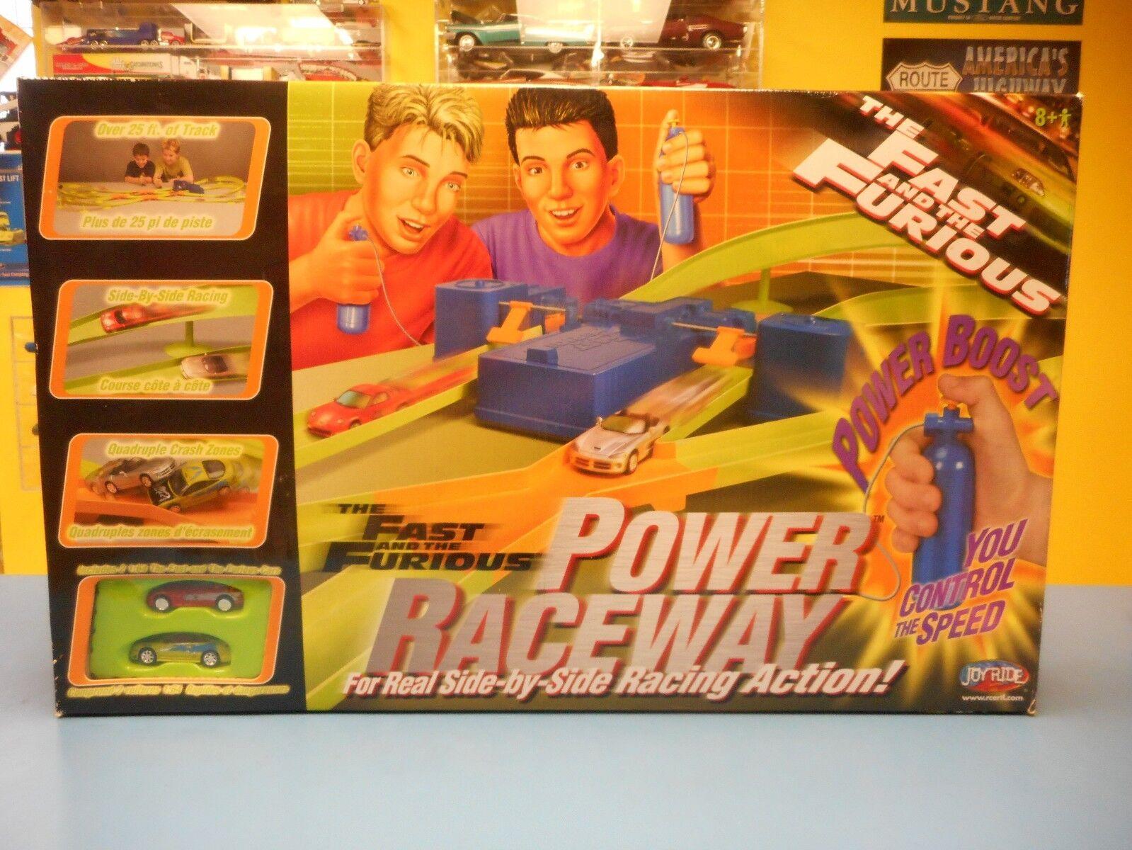 RACING CHAMPIONS FAST & FURIOUS POWER RACEWAY WITH 95 MITSUBISHI & 93 MAZDA RX-7