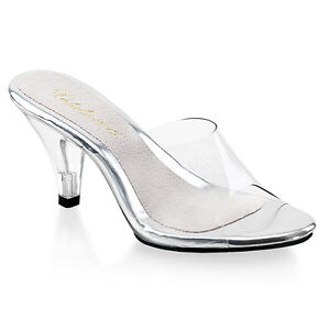 e90afdab13e Image is loading Clear-Glass-Slippers -Princess-Cinderella-Drag-Queen-Costume-