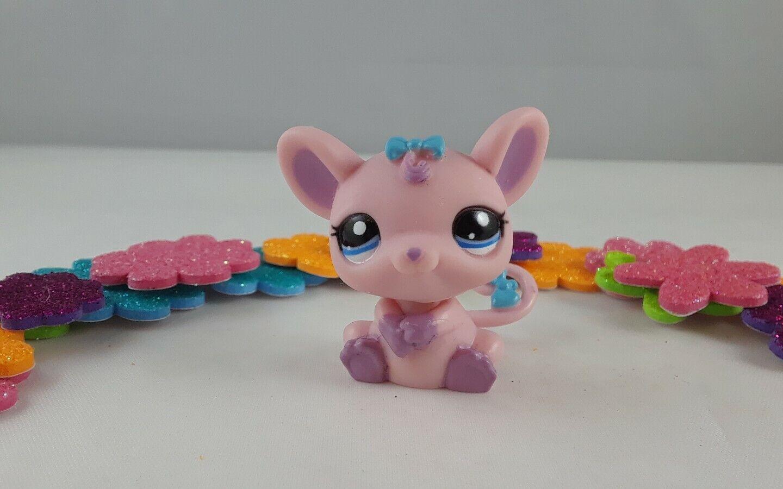 Littlest Pet Shop Pink And Purple Accented Little Girl Rat Rat Rat Mouse bluee Bows e087c3