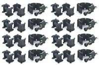 8 Chauvet Clp-10 360° Wrap Around O-clamps Truss Light Mounting - 75 Lb Capacity on sale