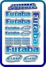 FUTABA SERVO RADIO RX TX 2.4G FLIGHT REMOTE CONTROL STICKERS FASST BLUE BLEND W