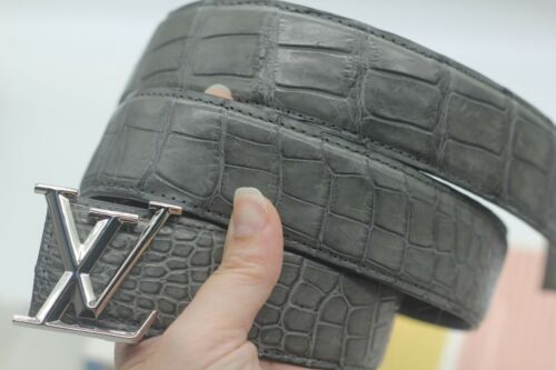 Gray Genuine Alligator Crocodile Leather Skin  Men/'s BELT Without Jointed