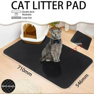 Waterproof-Double-Layer-Cat-Litter-Mat-Trapper-Foldable-Pad-Pet-Rug-Home-L