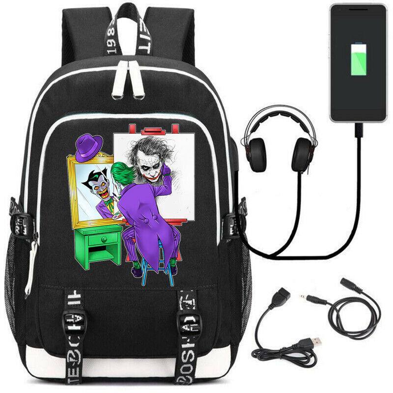 DC The Joker Backpack School Bags Men Women Laptop Travel Bags Gift