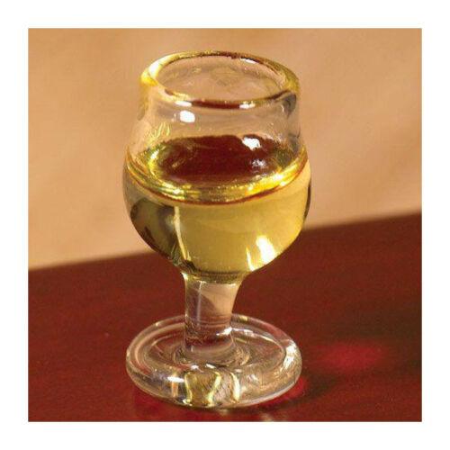 # Dolls House 6713 vin blanc verre 1:12 pour maison de poupée NOUVEAU