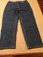 Land's End Jeans Women's Size 16 Fit 3 Natural Waist Inseam 29 100% Cotton