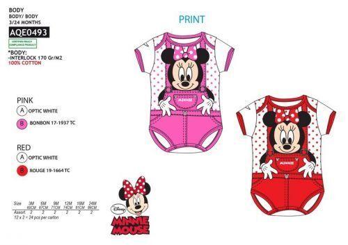 Disney Minnie Mouse Baby Body Bodydress Baumwolle Kinder Mädchen