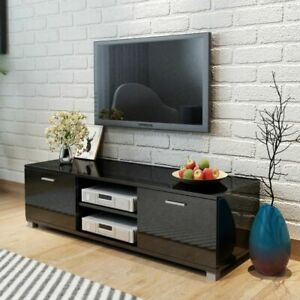 vidaXL-TV-Hifi-Cabinet-Sideboard-Unit-Stand-High-Gloss-Black-140x40-3x34-7-cm