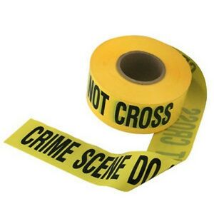 CRIME SCENE tape - police cop fbi cia csi firefighter