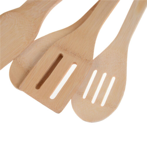 Bamboo Wood Kitchen Tools Spoons Spatula Wooden Cooking Mixing Utensils Tools HG