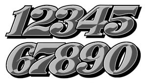 STICKER NUMERO COURSE RACING TRIAL MOTO CROSS AUTOCOLLANT STICKER NU019Bomb
