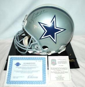Image is loading TROY-HIKMAN-DALLAS-COWBOYS-SIGNED-AUTOGRAPHED-HELMET-IN- 4fe547d47