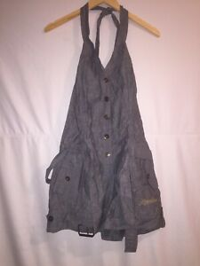 Apple-Bottoms-1-Piece-Denim-Jean-Shorts-Jumper-Romper-Size-L-New-W-Tags
