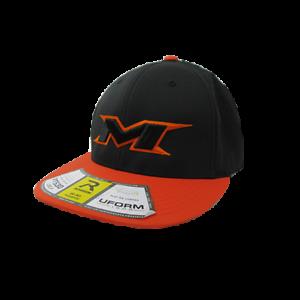 Orange//Black//Black//Orange//Black Miken Hat by Richardson PTS30