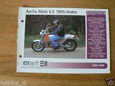 MVE02- APRILIA MOTO 6.5 1995-MINI POSTER AND INFO MOTORCYCLE,MOTORRAD,MOTORFIETS