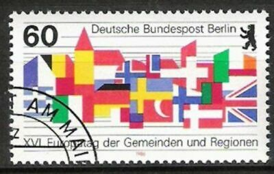 Geschickt Berlin Nr.758 Europatag 1986, Gestempelt Fabriken Und Minen