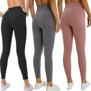 Womens High Waisted Yoga Leggings Pants Seamless Gym Exercise Running Jogging
