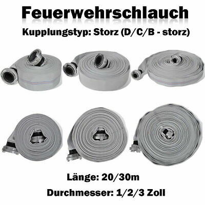 20m D-Bauschlauch 25 mm 1 Zoll D-Schlauch Storz Feuerwehrschlauch Storzschlauch