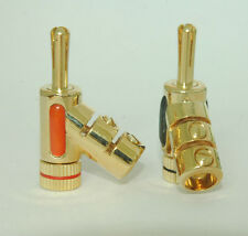 5 pairs 45° Angle Speaker Banana Plug Jack High End Audio Adapter E0846 USA Ship