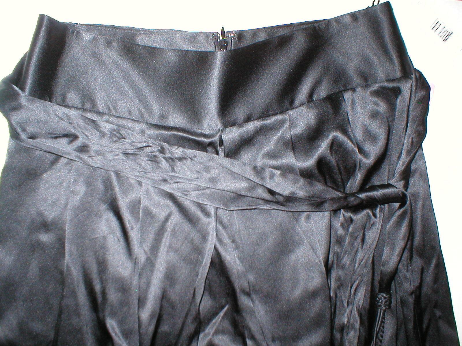 Nuevo NUEVO CON ETIQUETAS  448 Diseñador Elie Tahari Toni  pantalones de pierna ancha de seda de 8 de Alto Negro para Mujer  venta caliente