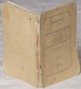 FELIX-SODINI-ABREGE-DE-L-039-HISTOIRE-LITTERATURE-FRANCAISE-LETTURE-THIERS-PASCAL
