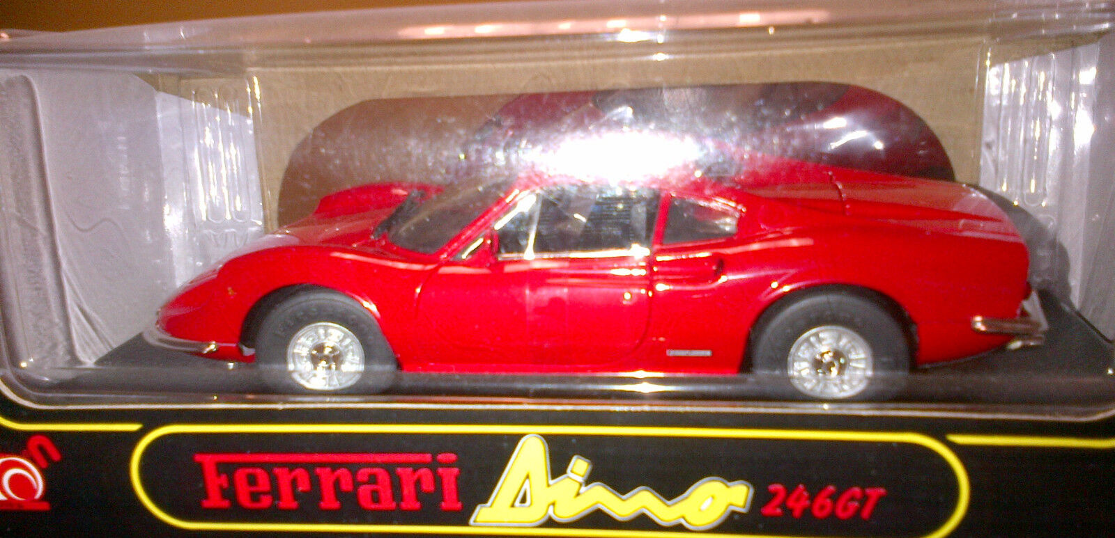 FERRARI 246 DINO RED BY ANSON OLD RELEASE 1 18 BRAND NEW IN BOX MINT CONDITION