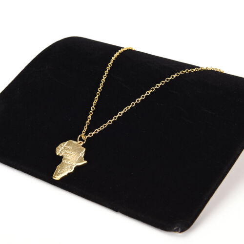 Africa Map Pendant Necklace for Women//Men Silver//Gold Color Ethiopian Jewelry GL