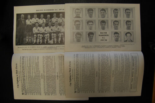 BOLTON W. V MANCHESTER UNITED FA CUP FINAL 2xDifferent 195758 MUNICH DISASTER