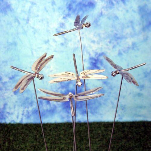 75 cm hoch Gartenstecker Libelle aus Edelstahl ca