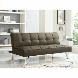 Magnificent Serta Convertible Sofa Java Couch Futon Bed Sleeper Brown Download Free Architecture Designs Itiscsunscenecom