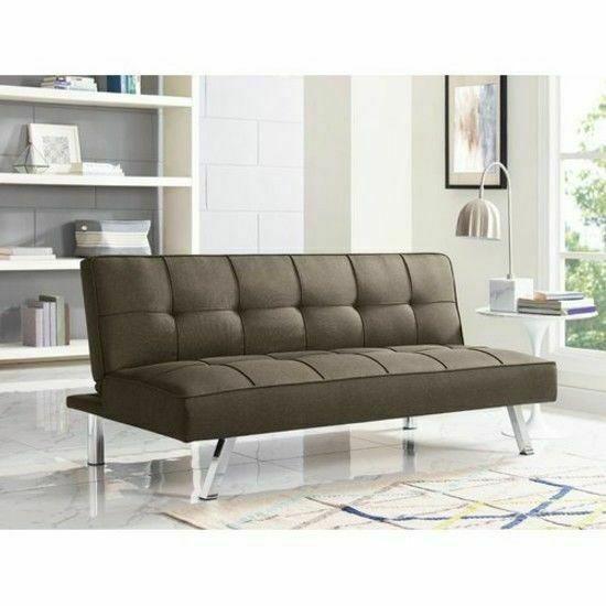 Serta Convertible Sofa Java Couch Futon