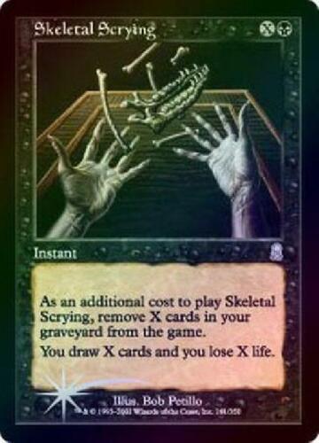 Foil Played MTG Odyssey Magic Skeletal Scrying
