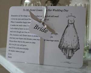 Image Is Loading Bride Wedding Card For Sister To Be
