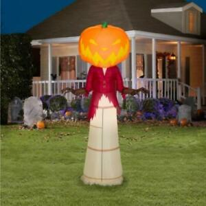 Nightmare-Before-Christmas-5-Ft-Pumpkin-King-Airblown-LED-Inflatable-Gemmy-NIB