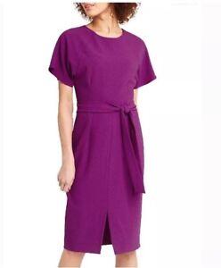 bafb25848dbc BNWT Ladies Oasis Drape Belted Wiggle Dress - Pink Magenta - Size 12 ...